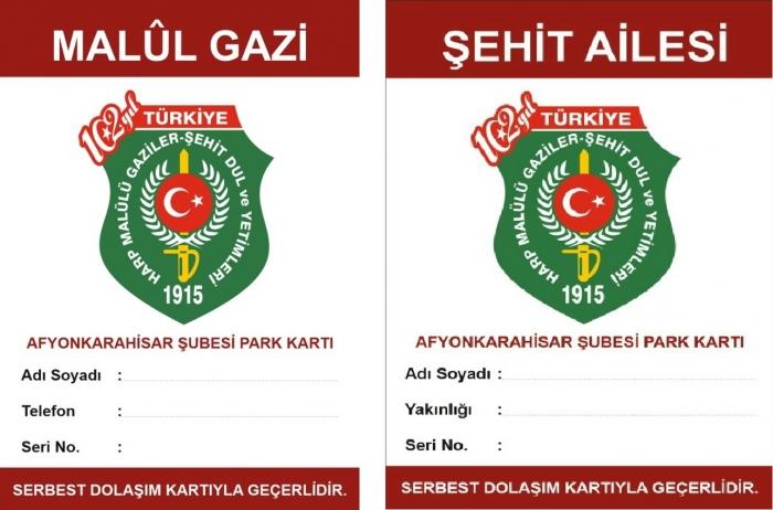 PARK KARTLARI DERNEĞİMİZDEN DAĞITILMAYA BAŞLADI..