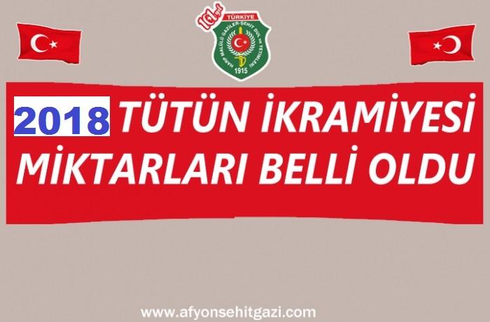 2018 YILI TÜTÜN İKRAMİYESİ MİKTARLARI SGK TARAFINDAN BELİRLENDİ.