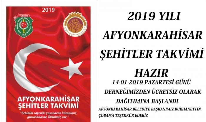 2019 YILI ŞEHİTLER TAKVİMİ YAYINLANDI