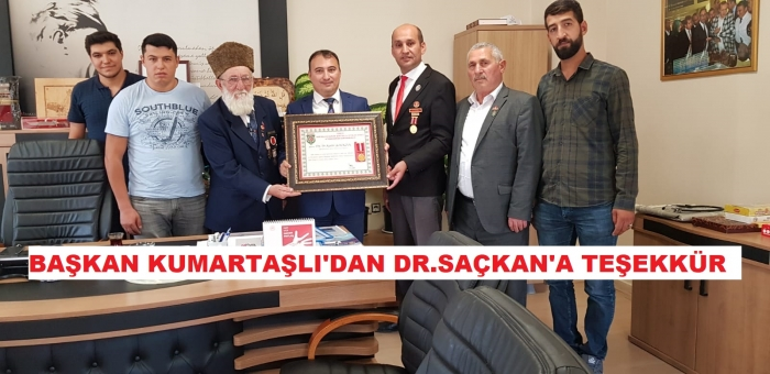 DR.SAÇKAN ONORE EDİLDİ