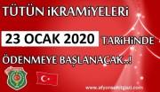 2020 YILI TÜTÜN İKRAMİYELERİ 23 OCAK 2020 TARİHİNDE SGK TARAFINDAN ÖDENECEK