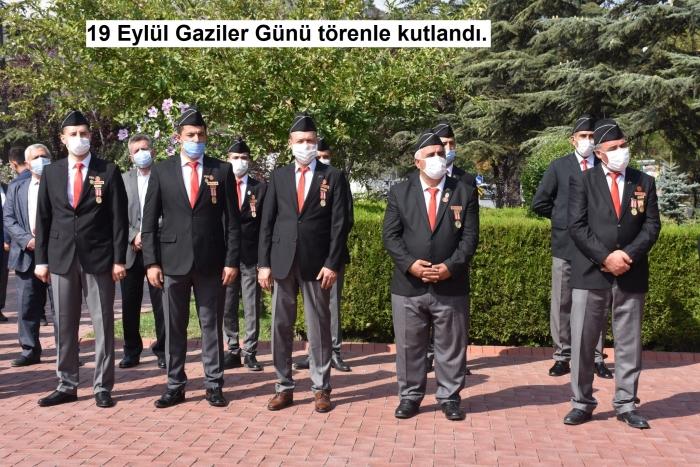 19 Eylül Gaziler Günü törenle kutlandı 19 09 2020